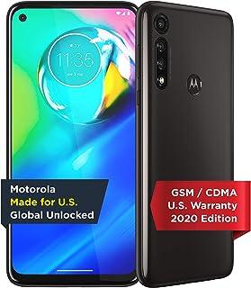 Motorola Moto G8 Smartphone, 64GB Memory, Unlocked Cellular - Smoke Black (Renewed)