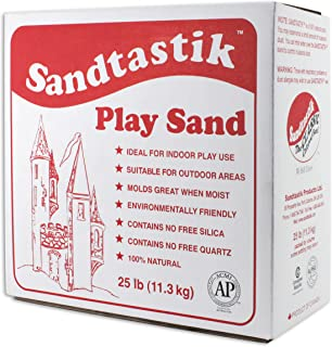 Sandtastik Sparkling White Play Sand, 25 Pounds - 25.-LB-BOX-REG