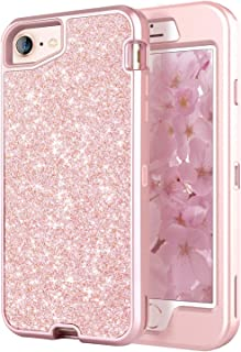 XYark Compatible with Phone Case iPhone 6/6s/7/8(Not for Plus) 4.7 inch, Cute Bling Sparkle Glitter Protective Case for Women, Rose Gold
