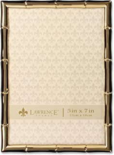 Lawrence Frames 5x7 Gold Metal Bamboo Design Picture Frame