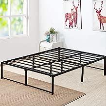 VECELO Mattress Foundation/No No Box Spring Needed/Steel Slat Support (Queen Size), Black