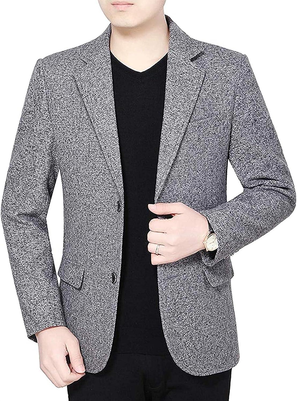 Men's Wear to Work Slim Fit 2 Button Suit Blazer Jacket Sport Coat