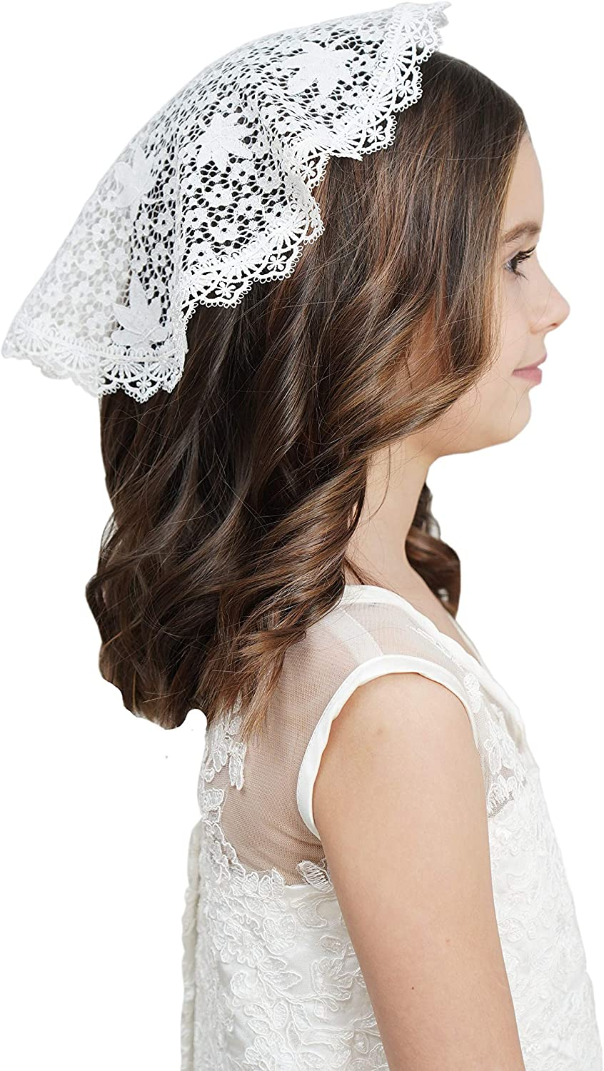 Lace Headcovering for Girls Church Mantilla Veils for Girl Lace Head Cover V87