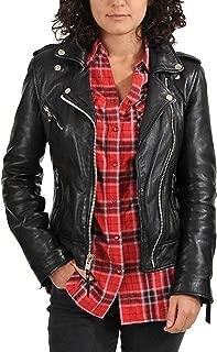 Women's Moto Lambskin Leather Jacket, Bikers Jacket