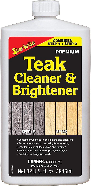 Star brite One Step Teak Cleaner & Brightener 32 ounce: Automotive