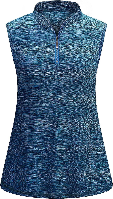 Viracy Award Women's Zip Up Golf Workout Max 86% OFF Tops Dr Quick Tank Sleeveless