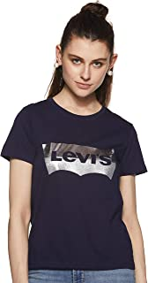 Levi's women's plain classic Tee in Silver, Size:S