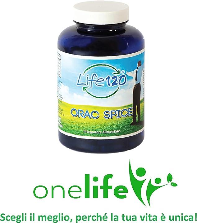 Orac spice di life 120 | 240 compresse curcuma, zenzero, pepe nero, integratore alimentare naturale 0806802819068