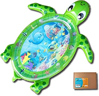 Fun N Well Inflatable Tummy Time Water Play Mat | Large & Cute Turtle Design | Non-Leak & Child-Safe | Fun & Stimulating B...
