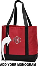 Custom Embroidered Shoulder Tote Bag - Personalized Monogrammed Tote by Printualist
