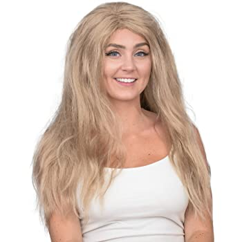 The King of Tigers Cat Lady Halloween Costume Wig Yellow