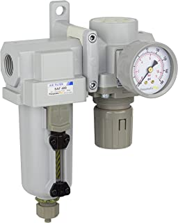PneumaticPlus SAU420-N04G-MEP Compressed Air Filter Regulator Combo 1/2