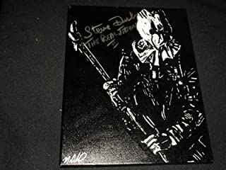 STEVE DASH Signed 11x14 Original PAINTING Jason Voorhees Friday the 13th Part 2 Autograph