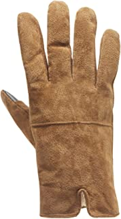 Heat Edge Cold Weather Winter Suede Leather Men's Gloves With TouchScreen technology And Fleece Lining