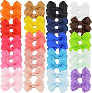Baby Girls Hair Bows Ribbon Covered Hair Clips Barrettes for Baby Fine Hair Toddlers Teens