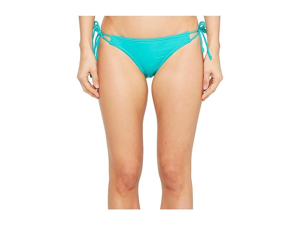 Echo Design Solid String Bikini Bottom (Caribbean Sea) Women