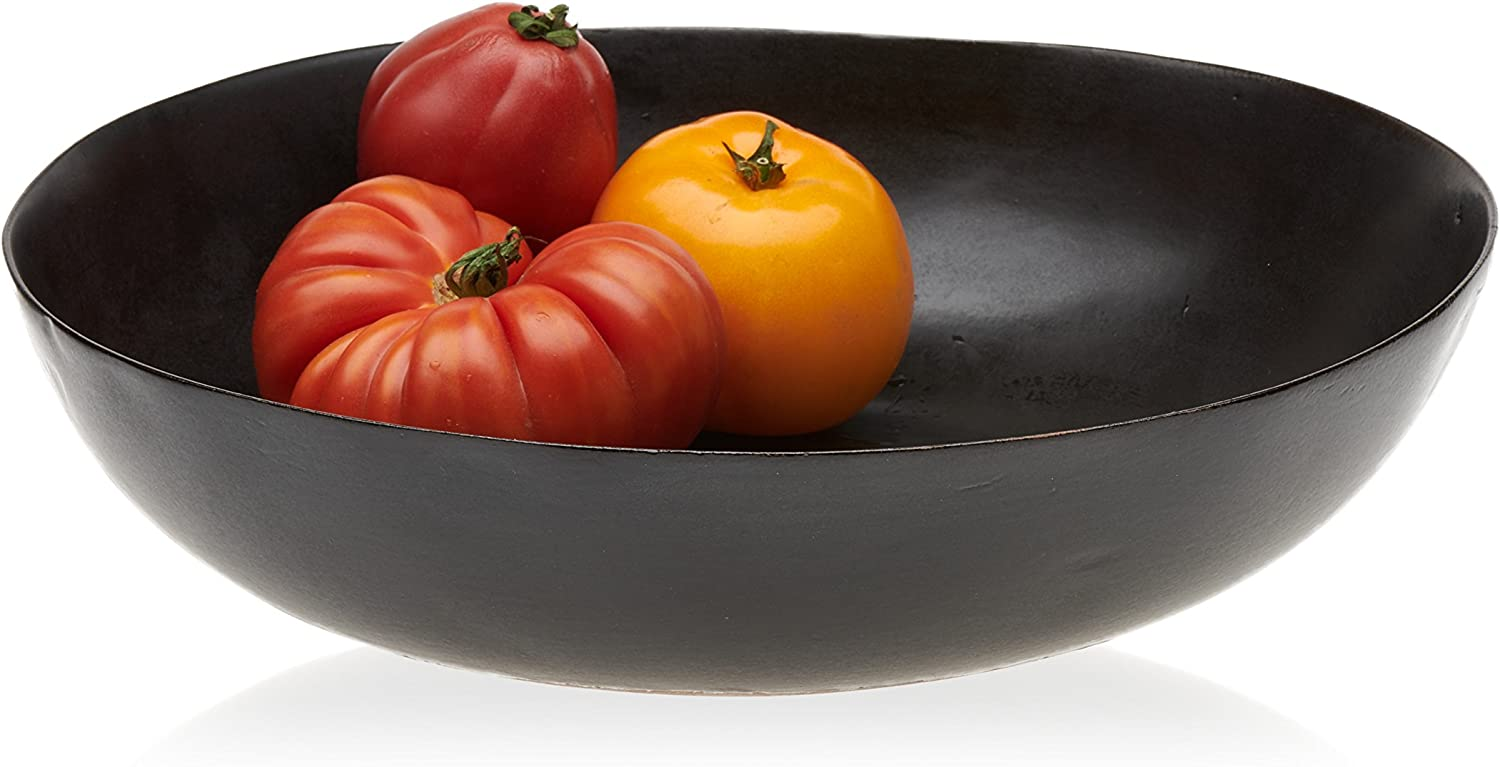 Prologue Drift Handmade Large Ceramic Serving Bowl, Black
