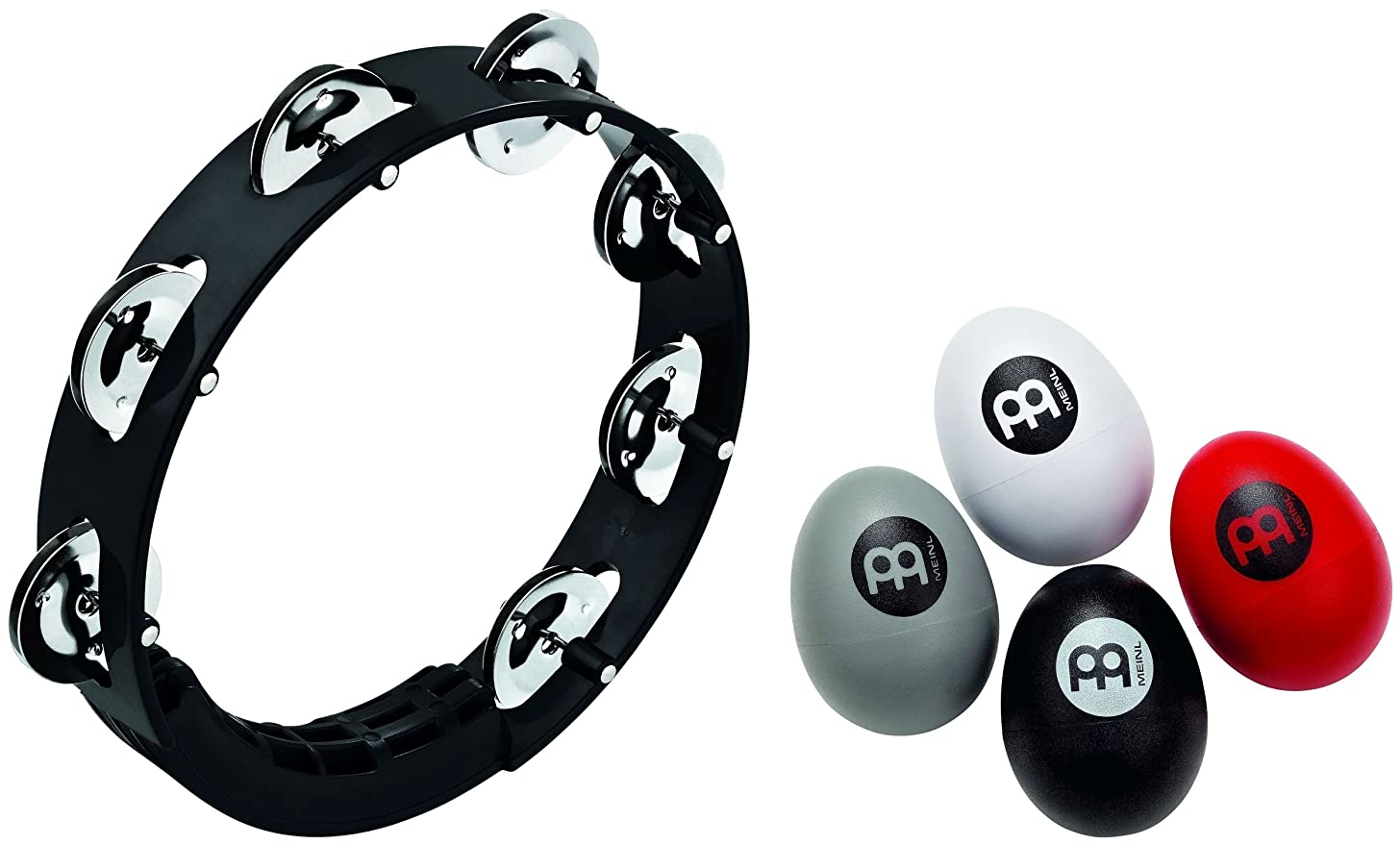 Meinl Percussion PP-4 Singer/Songwriter Percussion Pack with 4-Piece Egg Shaker Set and Compact Tambourine
