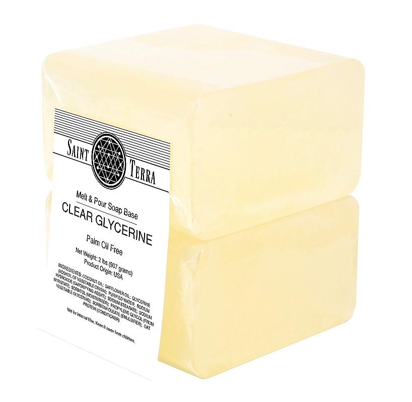 Saint Terra - Palm Oil Free Clear Glycerine 2 lbs Melt & Pour Soap Base