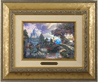 Thomas Kinkade Disney Cinderella Wishes Upon a Dream Brushwork (Gold)