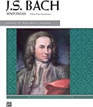 Bach -- 3-Part Inventions (Sinfonias) (Alfred Masterwork Edition)