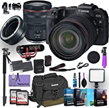 Canon EOS RP Mirrorless Digital Camera with RF 24-105mm f/4L is USM Lens Plus Canon Mount Adapter EF-EOS R Bundled w/ (Rode Microphone, 4 Pack Photo Editing Software & More)