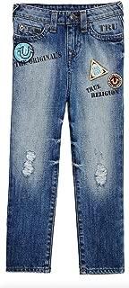 True Religion Geno Patchwork Kids Jean, Soft Blue, Size 10