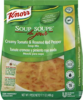 Knorr Professional Soup du Jour Creamy Tomato and Roasted Red Pepper Soup Mix No added MSG, 0g Trans Fat per Serving, Just Add Water, 17.1 oz, Pack of 4