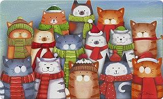 Toland Home Garden Cat Caroling 18 x 30 Inch Decorative Christmas Carol Floor Mat Winter Kitty Doormat - 800313
