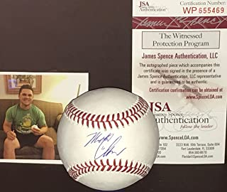 Michael Chavis Boston Red Sox Autographed Signed Official Major League Baseball JSA WITNESS COA
