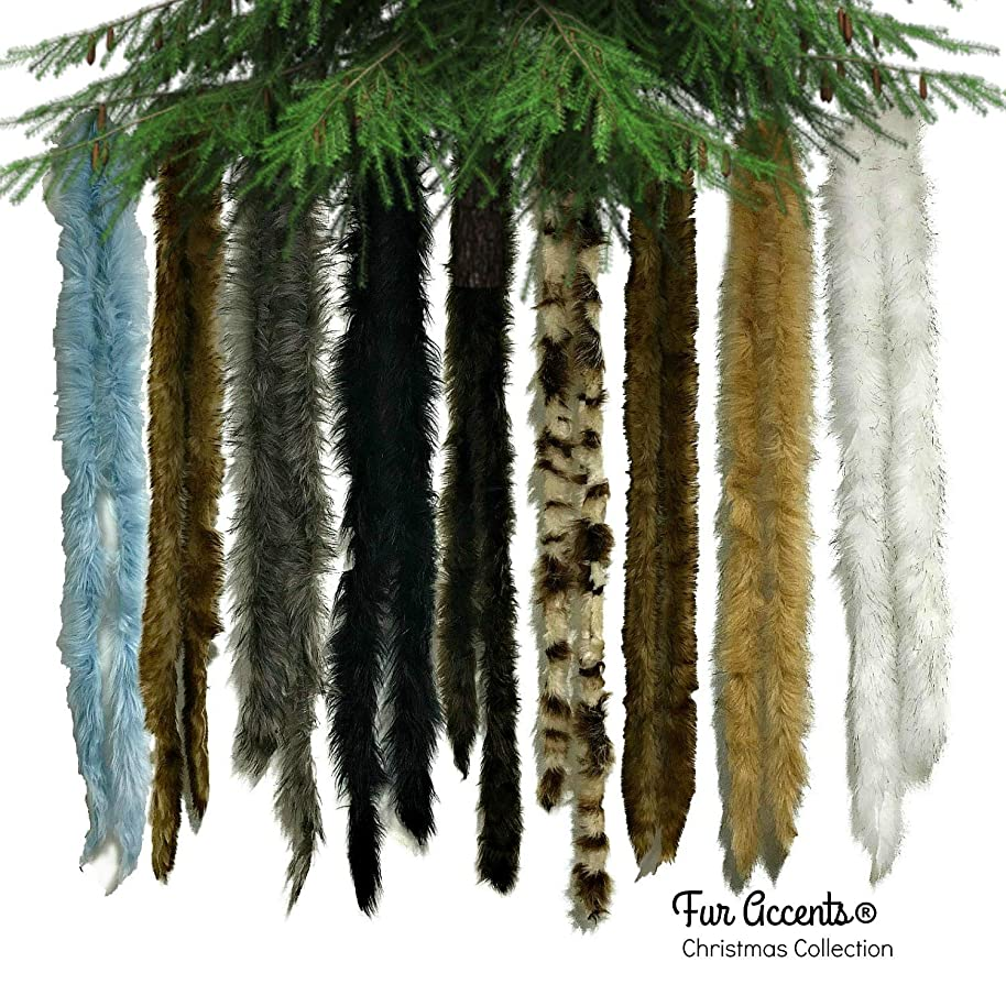 Christmas Swag, Garland, Fireplace Mantle Decor, Christmas Tree Garland, Decorations, Mantle, Stairway, Drape Your Tree, Wrap, Ornament, Faux Fur Shag, 2'' Thick (15', Chocolate Brown)