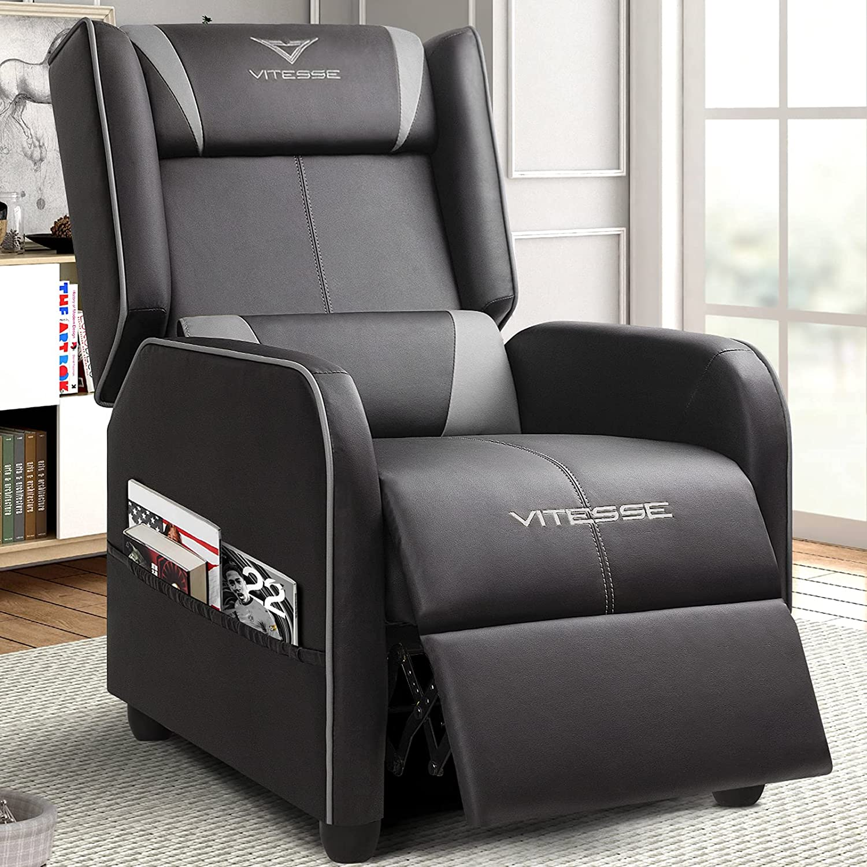 Vitesse OFFer Gaming Max 71% OFF Recliner Chair Racing Loun Ergonomic Single Style