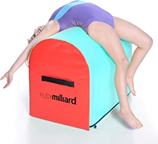 Milliard Unknown Gymnastics Mailbox Tumbling Aid Trainer, Spotting Equipment, 24x16x19.5 inches Blue with Red, Blue + Red