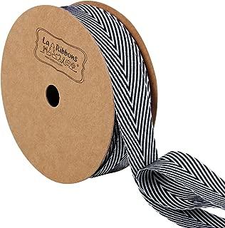 black and white herringbone ribbon