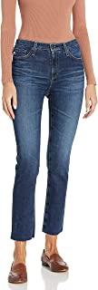 AG Adriano Goldschmied Women's Isabelle High-Rise Straight Leg Crop Jean