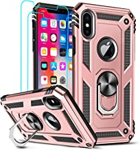 LeYi Compatible for iPhone Xs Max Case (Not Fit iPhone Xs) with Tempered Glass Screen Protector [2Pack] for Women Men, Mil...