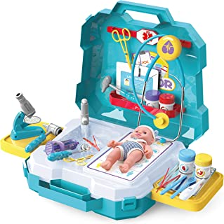 JOYIN 29 Pieces Medical Toy Kids Doctor Pretend Play Kit with Carrying Case for Kids, School Classroom Rewards and Doctor Roleplay