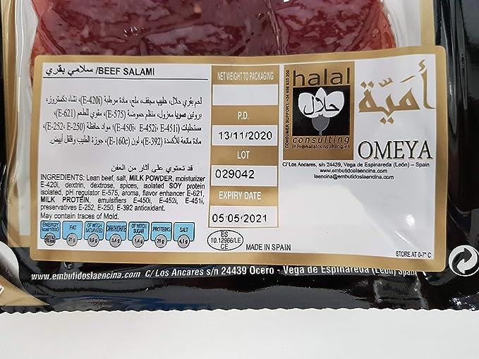 Embutidos de ternera halal - 100g - Omeya Halal (Cecina ...