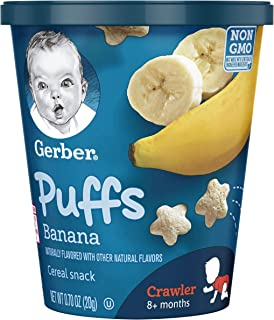 Gerber Puffs Cereal Snack, Banana Cup, 0.70 oz