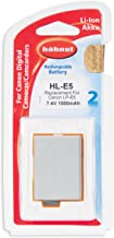 Hahnel HL-E5 Li-ion 7 4V 1000mA Battery Canon Type Replacement for Canon LP-E5 Compatible With EOS 1000D 450D 500D Rebel T1i XSi SLR