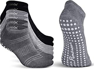 Pembrook Grip Socks - Non Slip and Non Skid Hospital, Yoga, Barre, Pilates, Maternity, Ballet, Women & Men (6 Pairs)