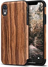 Tasikar Compatible with iPhone XR Case Easy Grip Slim Case with Wood Grain Design Natural Feel Compatible with iPhone XR (Redwood)
