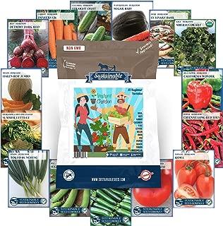Instant Garden, Heirloom Vegetable Seed Collection, 15 Variety Non GMO Heirloom Garden Vegetable Seeds