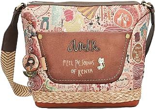 Anekke Damen Kenya Schultertasche/Schultertasche mit Reißverschluss, verstellbarer Schultergurt, Fronttasche mit Reißversc...