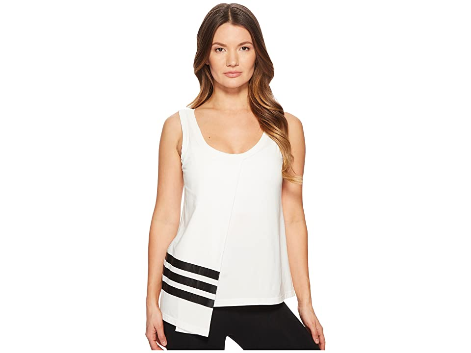 Image of adidas Y-3 by Yohji Yamamoto 3-Stripes Tank Top (Core White/Black) Women's Sleeveless