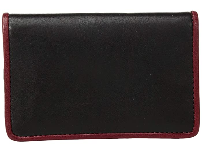 Bosca  Dolce Contrast - Calling Card Case (Black/Red) Credit card Wallet