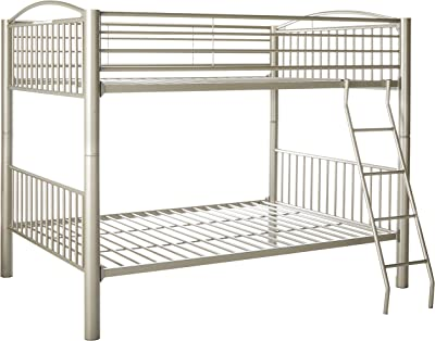 Powell 941-137 Heavy Metal Bunk Bed Full Over Full Pewter