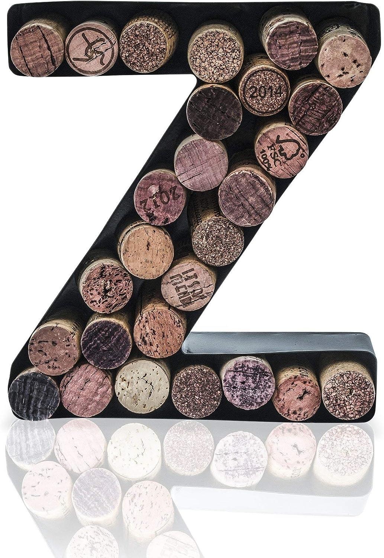 Easy Mount kit Included Letter E, 18 cm x 4 cm x 5 cm Made Easy Kit Wine Cork Holder Decorative Metal Monogram Letter for Wine Corks
