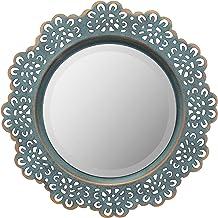 Stonebriar Espelho de parede decorativo de renda de metal para pendurar, Turquoise, 1