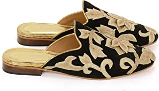 Anna Ricci Fully Embroidered Mules